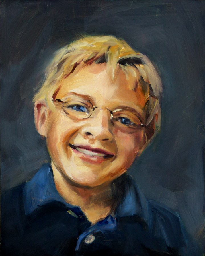 """Boy In Navy"" original fine art by Deb Anderson"