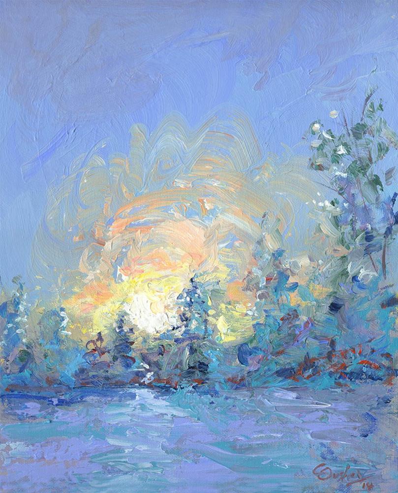 """Winter Sunrise"" original fine art by Chris Ousley"