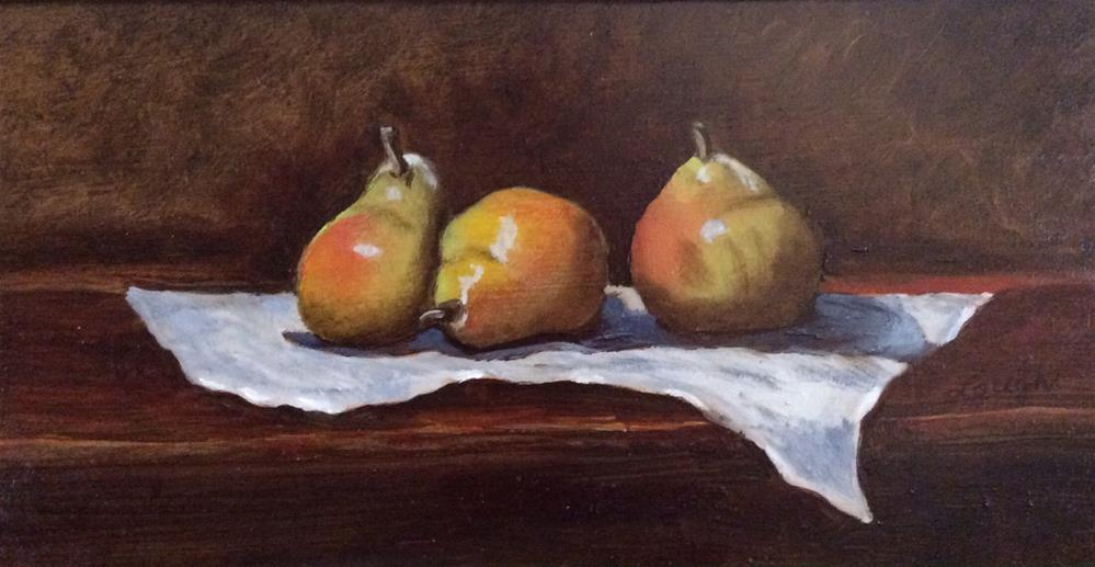 """Three's a Pear"" original fine art by Charlotte Lough"