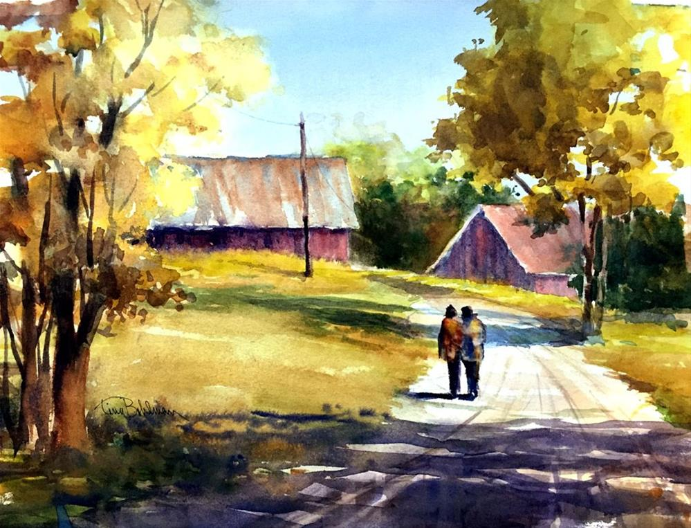 """A Walk in the Country"" original fine art by Tina Bohlman"