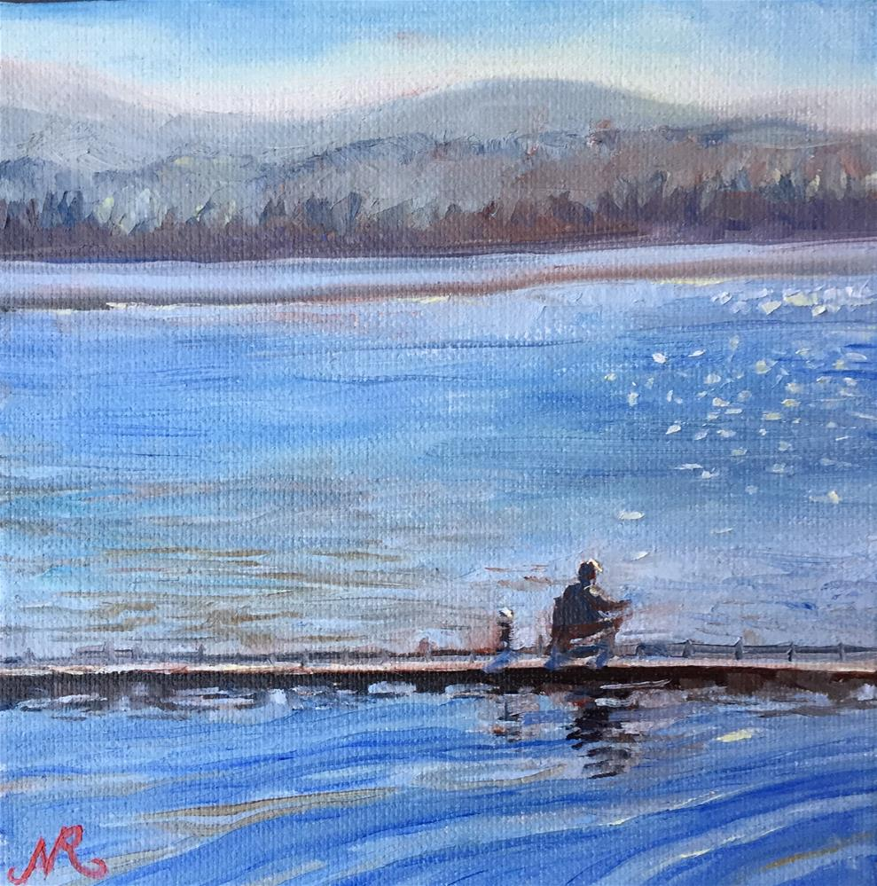 """Fishing"" original fine art by Natasha Ramras"