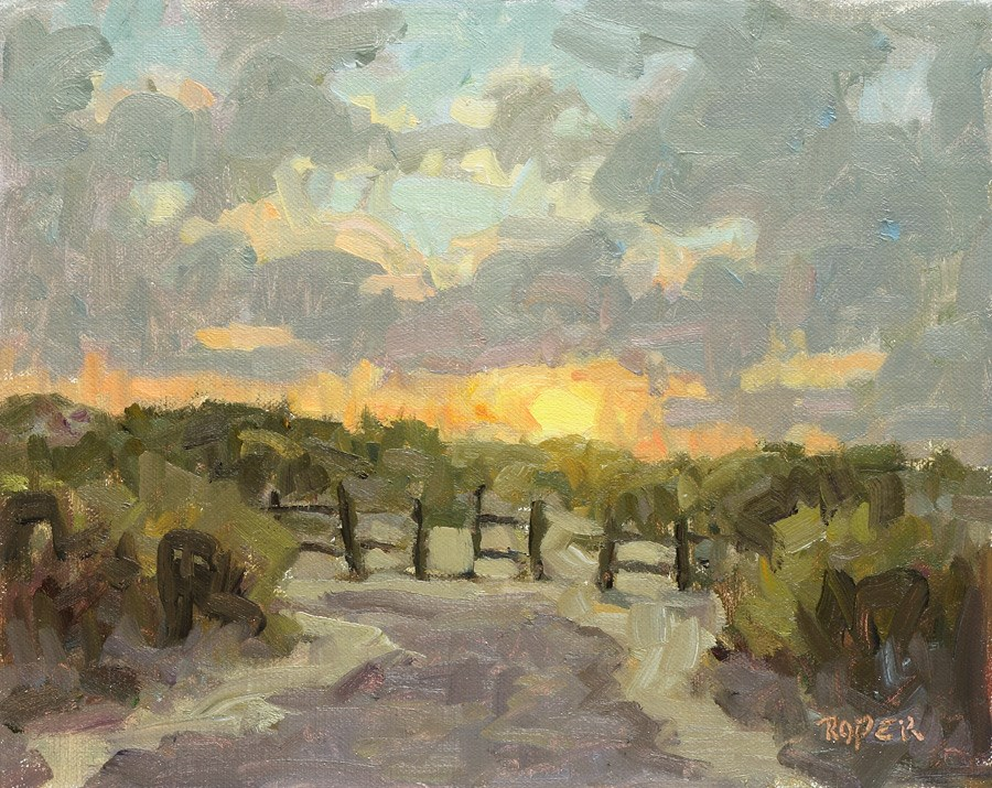 """DAY 20: Low Country Sunrise"" original fine art by Stuart Roper"
