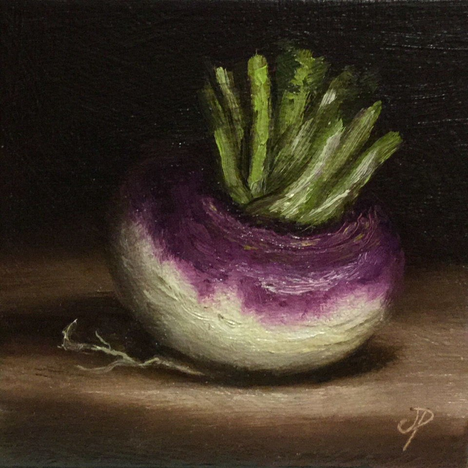 """Little Turnip"" original fine art by Jane Palmer"
