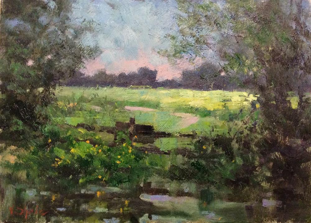 """In My Front Garden"" original fine art by John Shave"