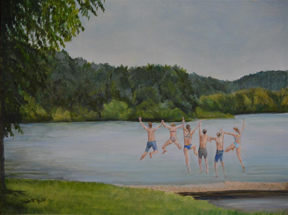 """summertime Plunge"" original fine art by Charlotte Yealey"