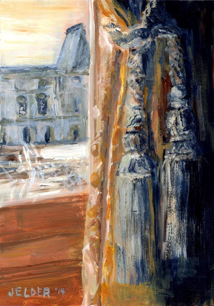 """Louvre No. 9"" original fine art by Judith Elder"