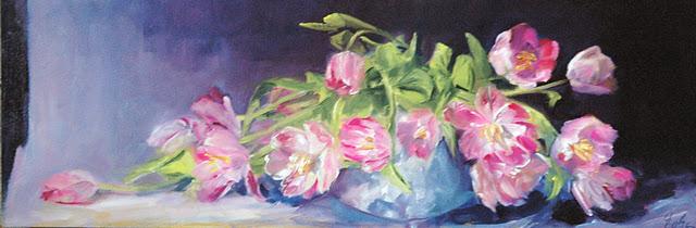 """""""Meli melo de tulipes version 2"""" original fine art by Evelyne Heimburger Evhe"""