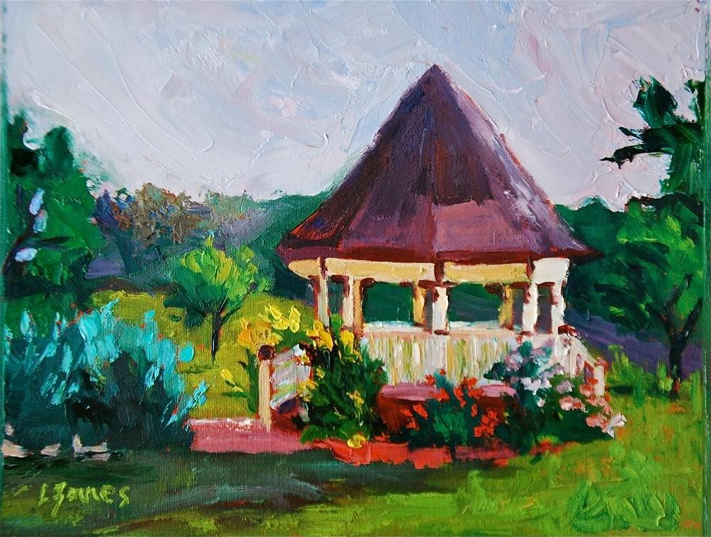 """""""Hill Country Gazebo"""" original fine art by Liz Zornes"""