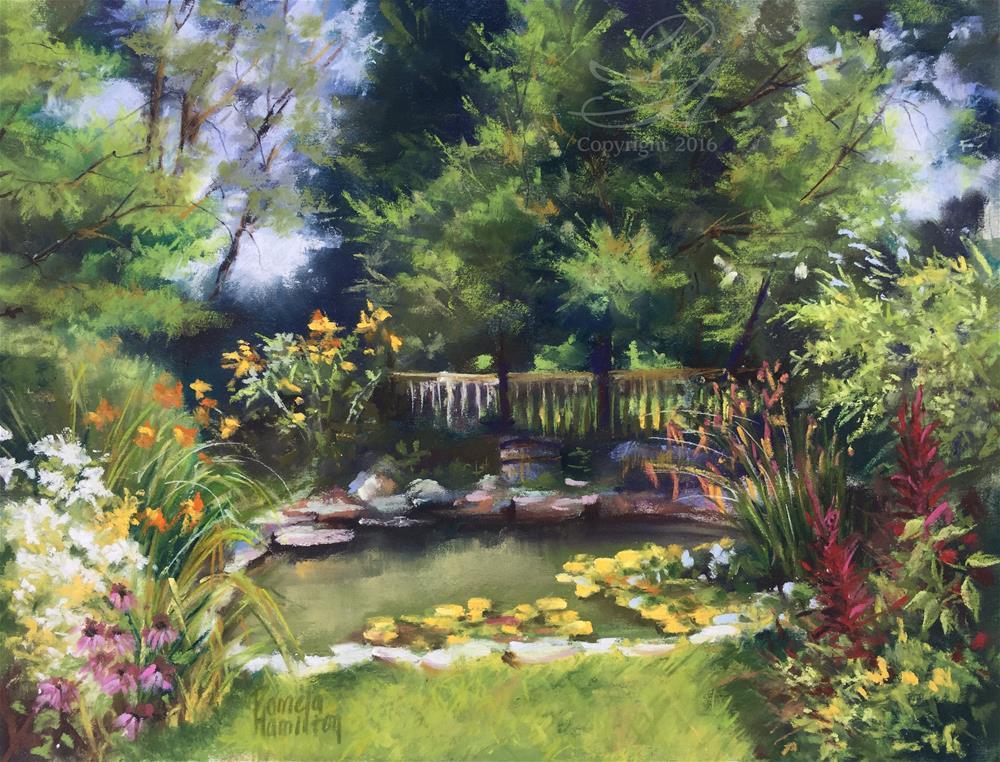 """Petit GArden"" original fine art by Pamela Hamilton"
