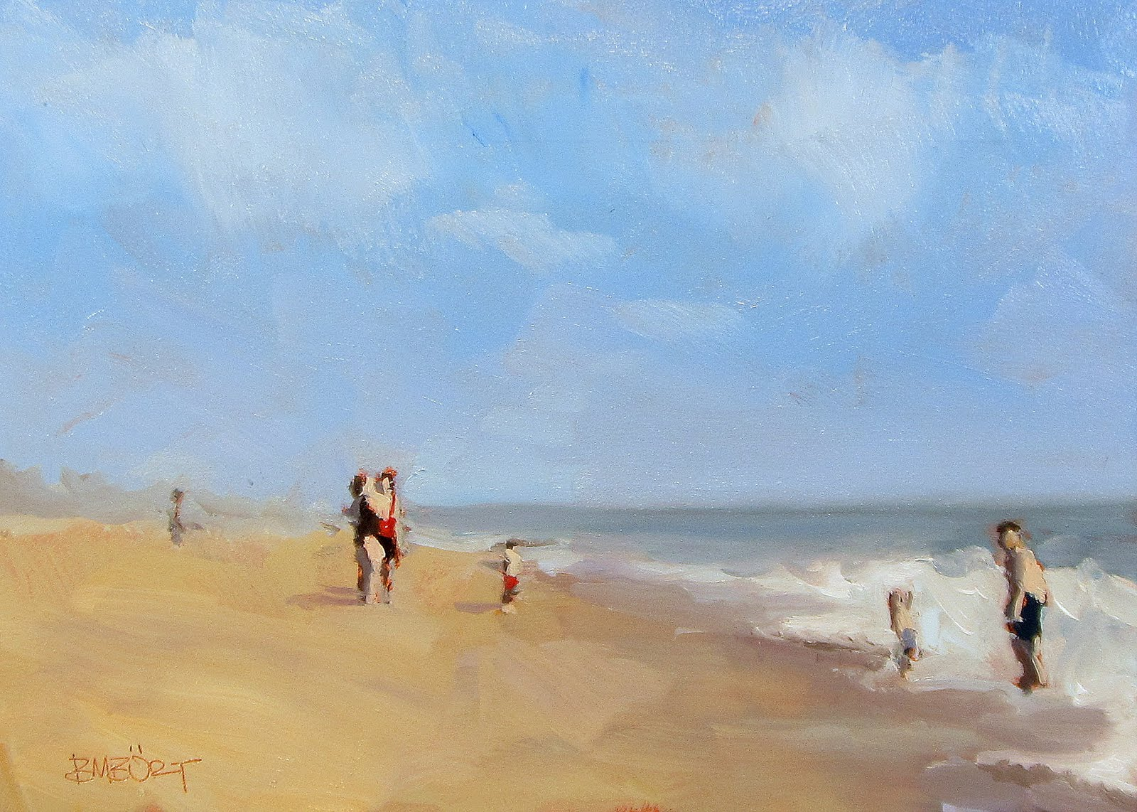 """ART 4 DIAPERS (DAILY DIAPER #180) At The Beach"" original fine art by Brian Burt"