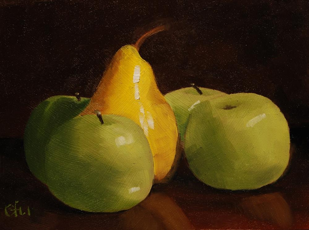 """Pear and Apples"" original fine art by Gary Westlake"