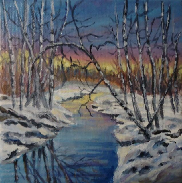 """Evening Reflections 2014"" original fine art by Jackie Irvine"