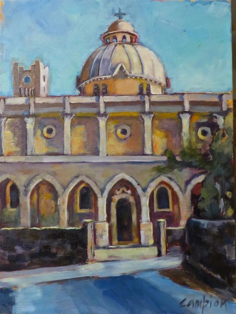"""802. Saints Peter and Paul Catholic Church, a.k.a. The Rached Church"" original fine art by Diane Campion"
