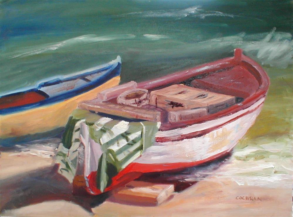 """""""Amalfi Boats"""" original fine art by Carol Cochran"""