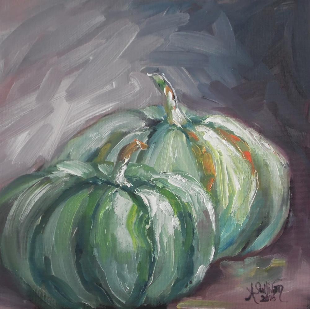"""Green Things still life painting by Alabama Artist Angela Sullivan"" original fine art by Angela Sullivan"