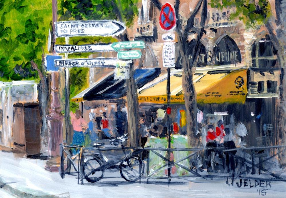 """Paris No. 71"" original fine art by Judith Elder"