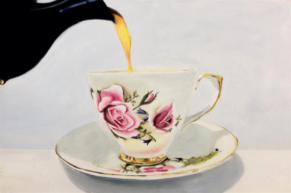 """Pouring Tea"" original fine art by James Coates"