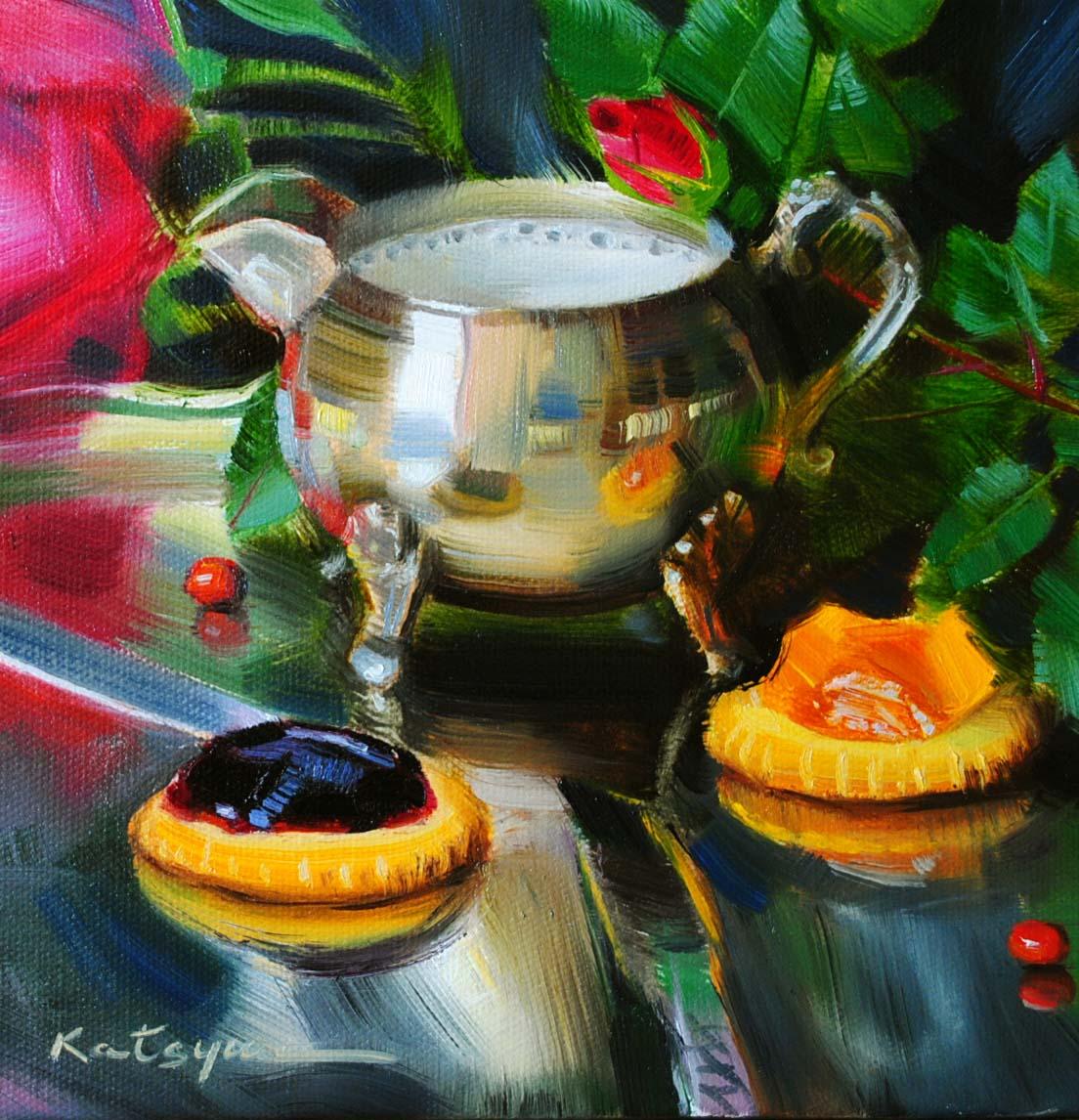 """""""Morning Delight"""" original fine art by Elena Katsyura"""