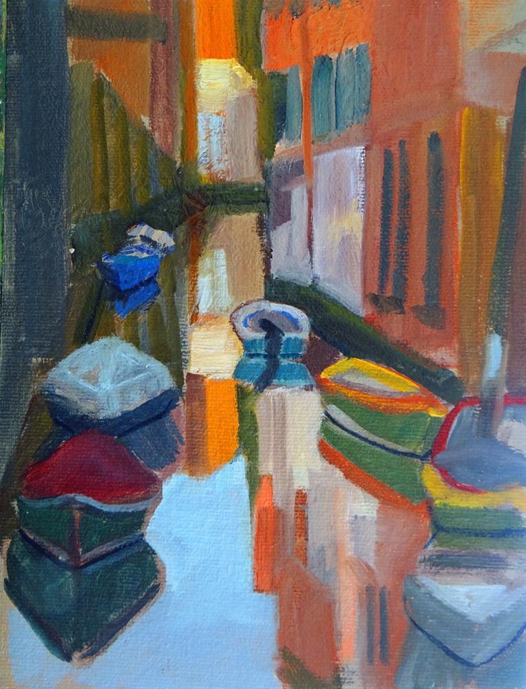 """""""Venice's back Canels"""" original fine art by Nancy Paris Pruden"""