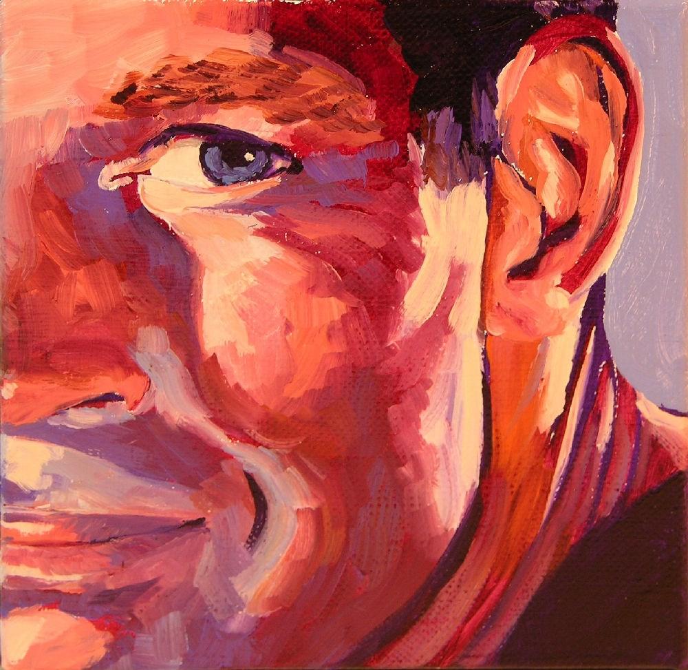 """Heston"" original fine art by Mary McInnis"
