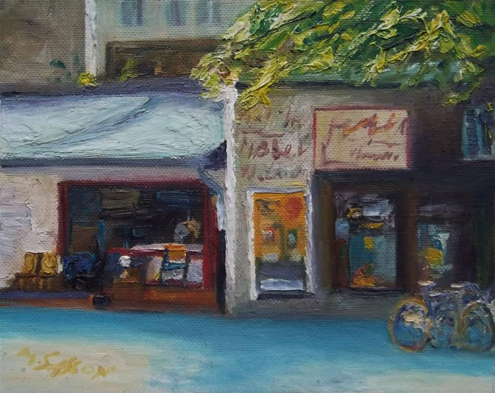"""The old antiques shop"" original fine art by Michael Sason"