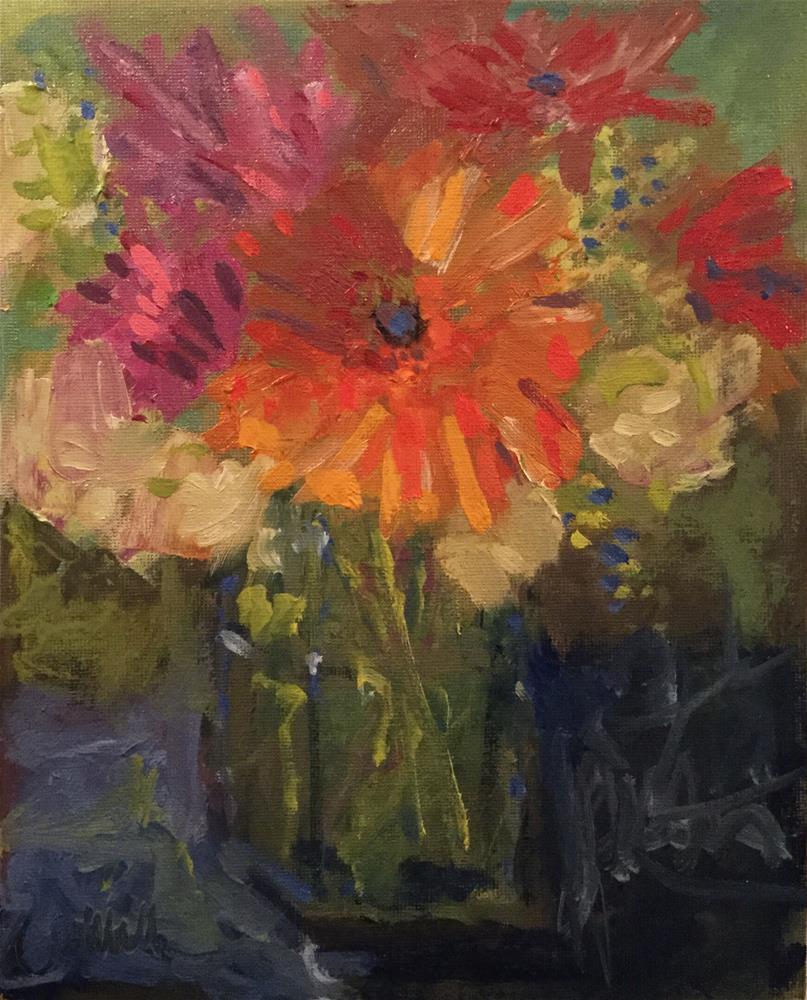 """Flower Power"" original fine art by Barb Walker"