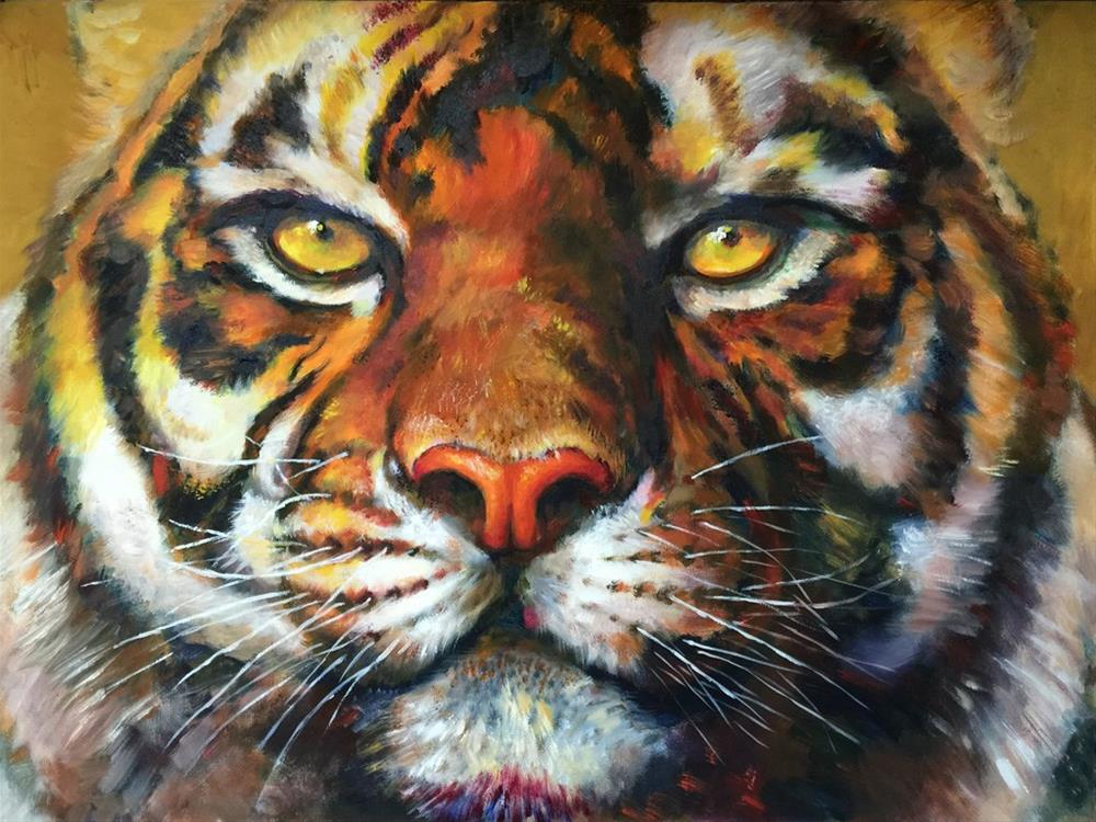 """tiger"" original fine art by Joy Cai"
