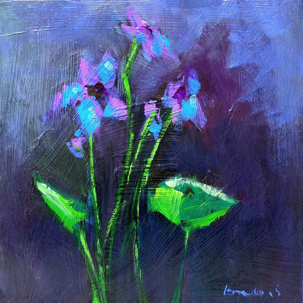 """Violet"" original fine art by salvatore greco"