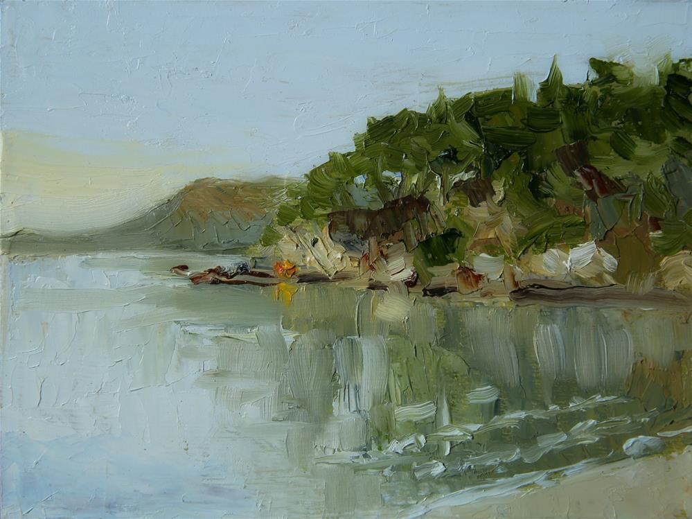"""Island Bay"" original fine art by Jethro Knight"
