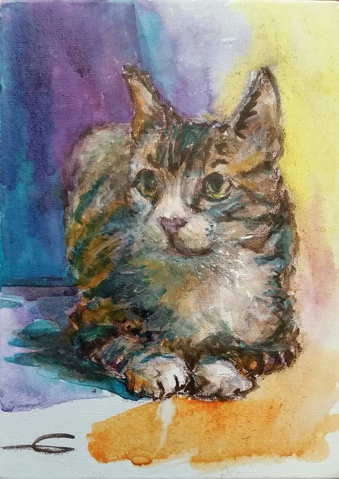 """Dixie"" original fine art by Gabriella DeLamater"