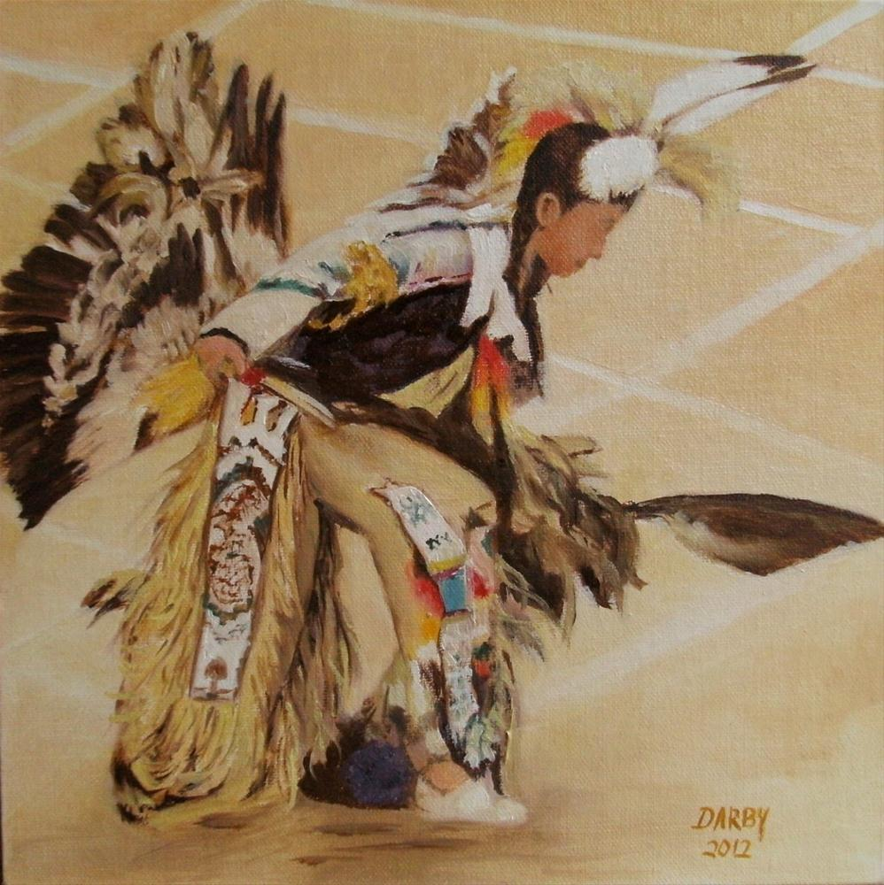 """Native American Dancer"" original fine art by Lynn Darby"
