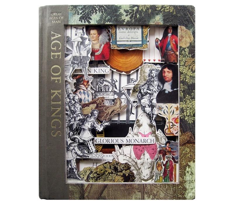 """Age of Kings Vintage Handcarved Book Sculpture - mixed media original art"" original fine art by Linda Apple"