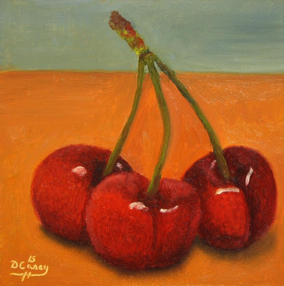 """Cherries 005"" original fine art by Dave Casey"