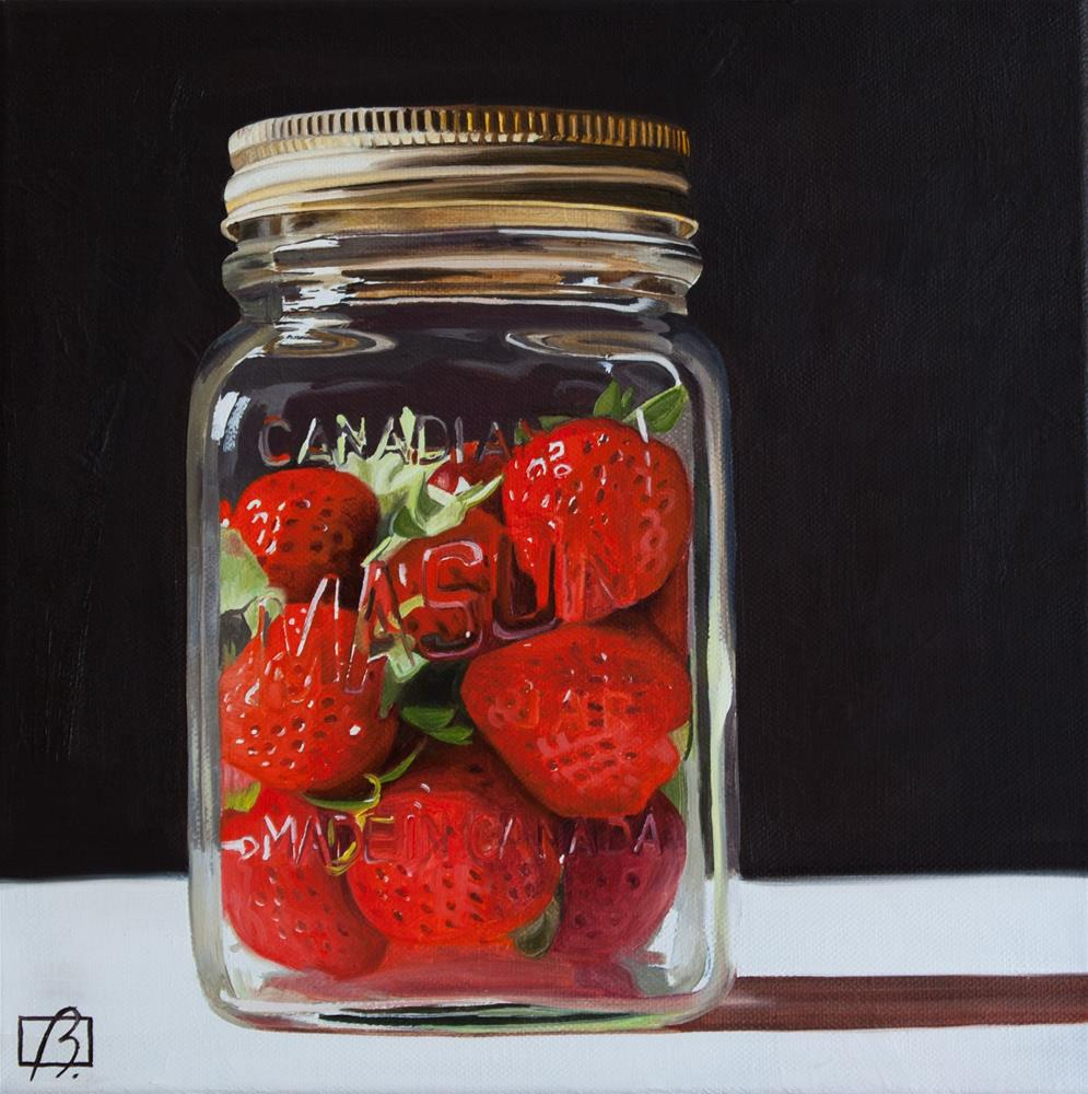 """Strawberry Preserves"" original fine art by Andre Beaulieu"