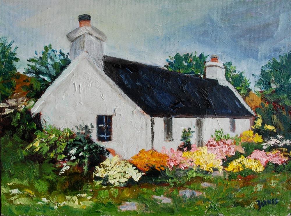 """Cottage Isle of Skye"" original fine art by Liz Zornes"