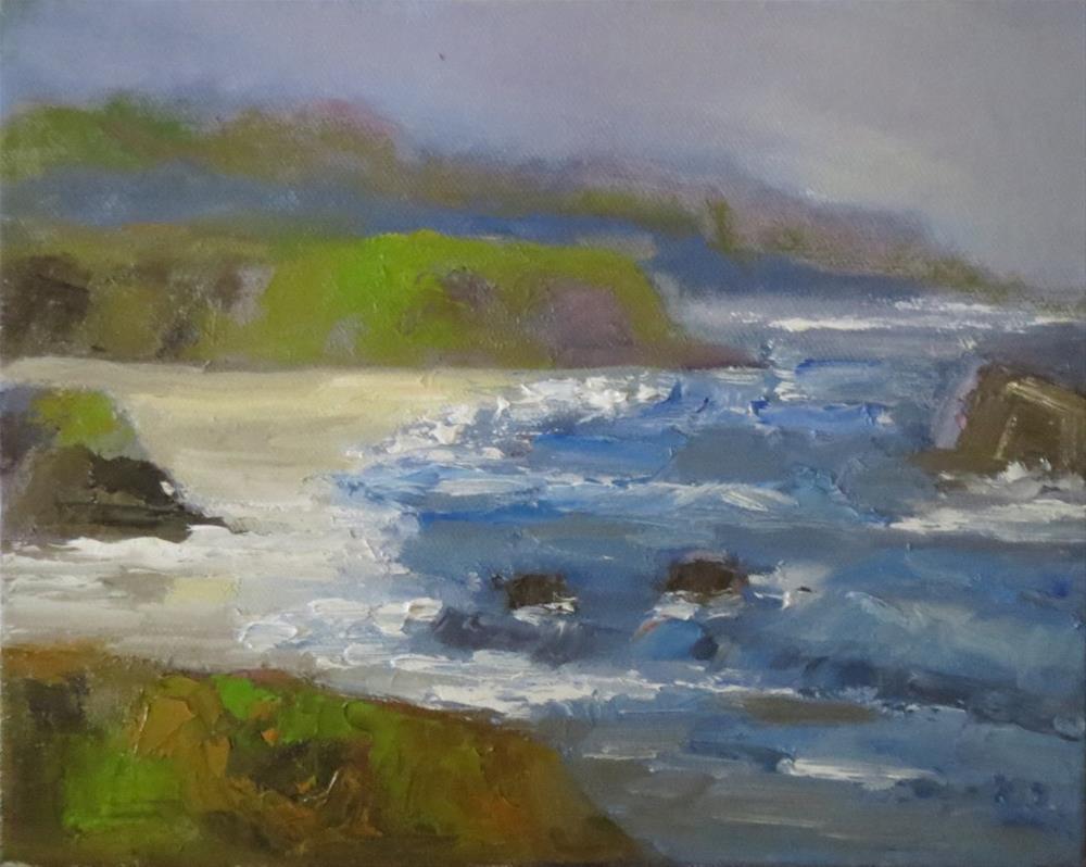 """""""Oregon coast"""" original fine art by Astrid Buchhammer"""