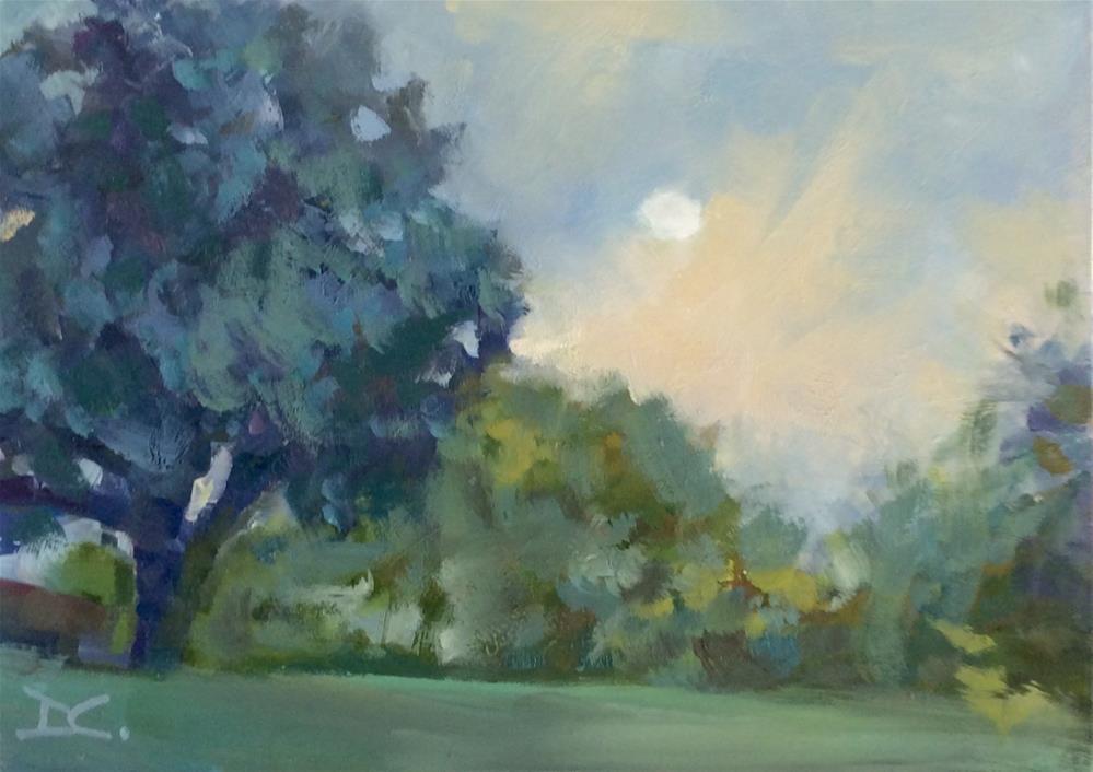 """MORNING MOON"" original fine art by Doug Carter"