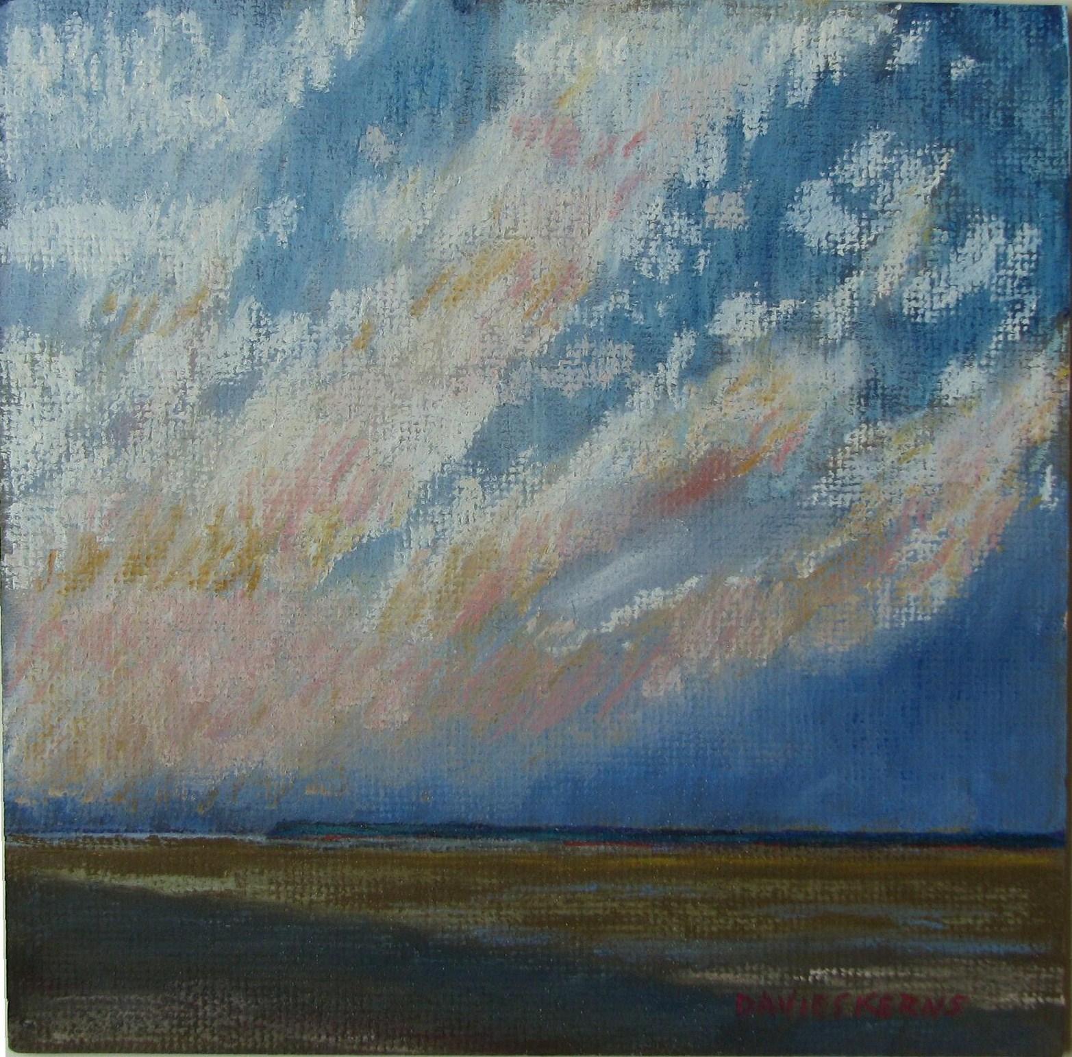 """december sky 2"" original fine art by Mary Davies Kerns"