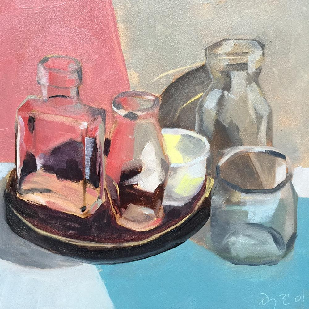 """102 Wee Jars"" original fine art by Jenny Doh"