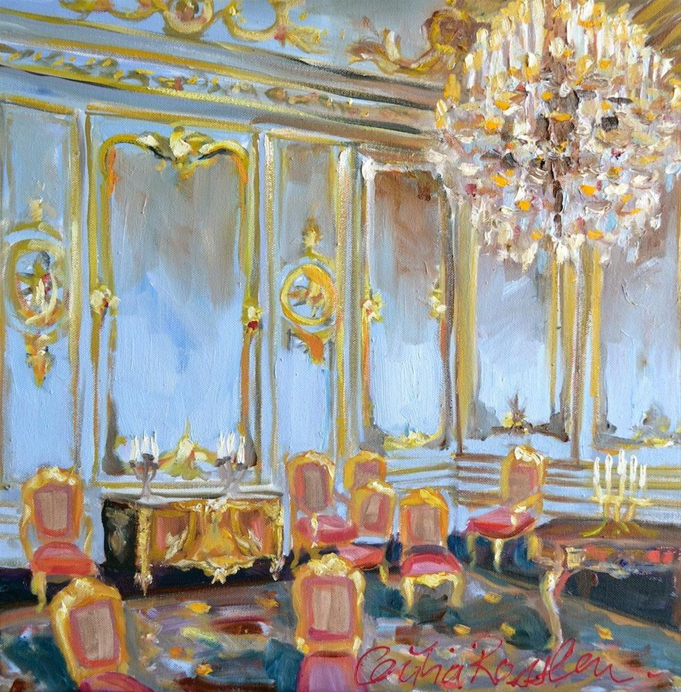 """Chantilly Room"" original fine art by Cecilia Rosslee"