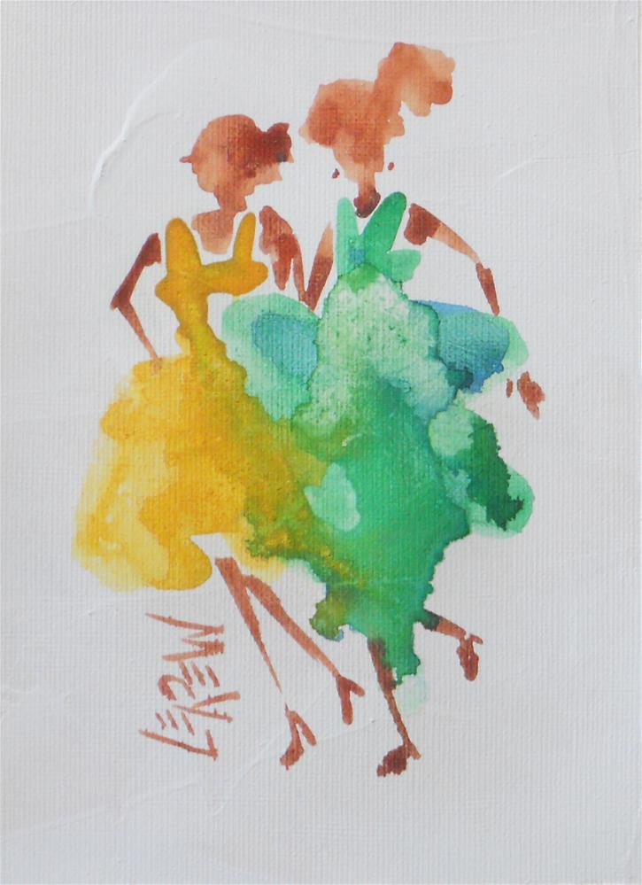 """""""Serendipity Blot Figure #140208 by Larry Lerew"""" original fine art by Larry Lerew"""