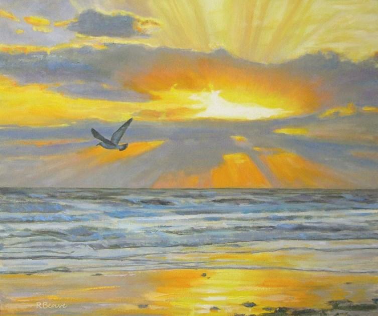 """""""Shine Your Light"""" original fine art by Robie Benve"""