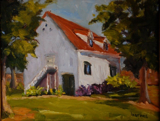 """French Legation Museum Building"" original fine art by Liz Zornes"