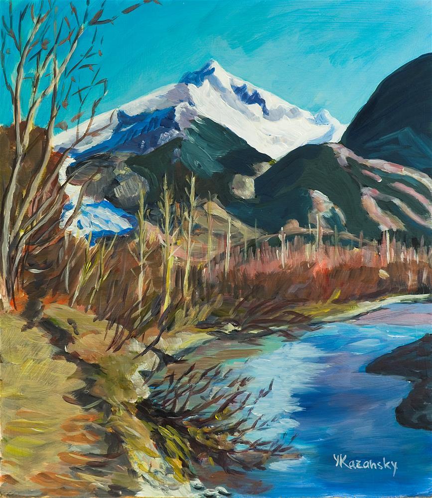 """Herbert Glacier, Juneau, Alaska"" original fine art by Yulia Kazansky"