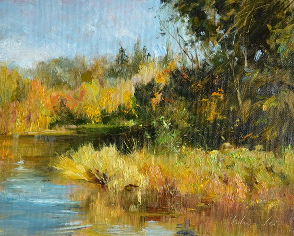 """Ripple in the Autum"" original fine art by Kelvin Lei"