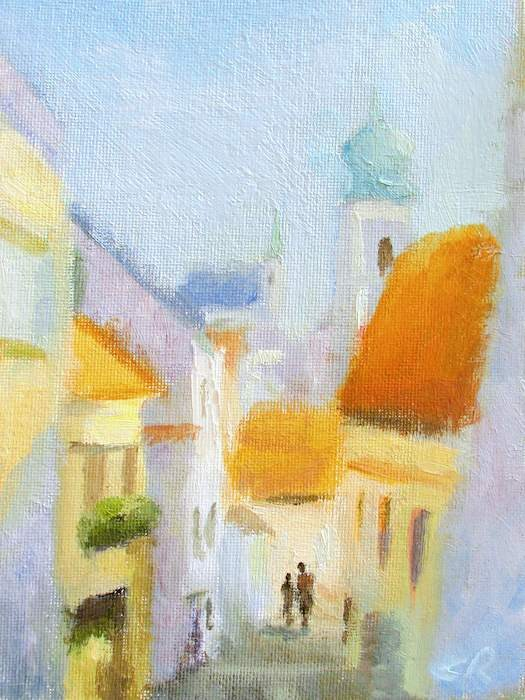"""Afternoon in Cesky Krumlov"" original fine art by Keiko Richter"
