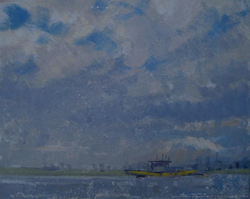 """""""Veerpont Dieren-Oldburgen. Dieren, The Netherlands."""" original fine art by René PleinAir"""