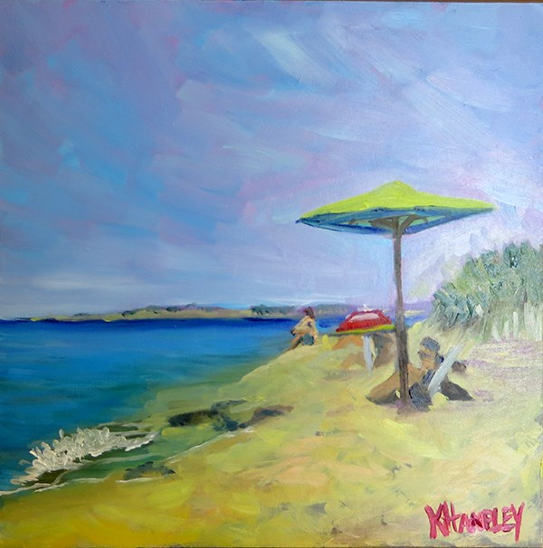 """Herring Cove Beach"" original fine art by Katherine Hambley"
