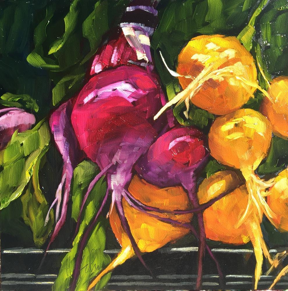 """Beets Me"" original fine art by Hallie Kohn"
