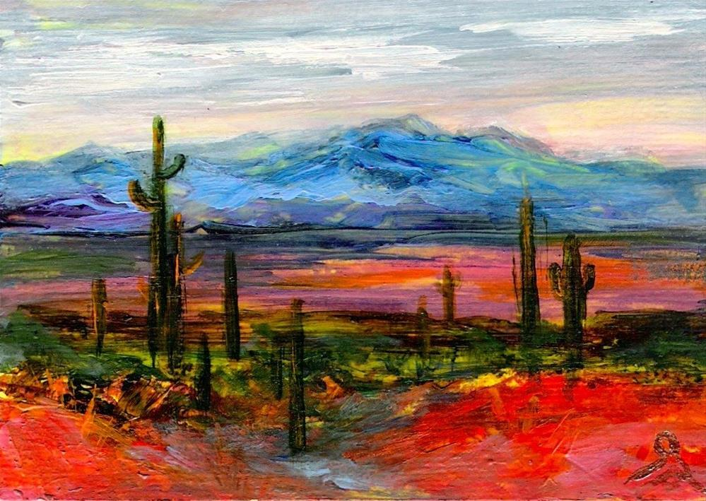 """3176 - ARIZONA LIGHT - ACEO Series"" original fine art by Sea Dean"